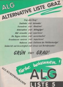 Titelblatt des ALG-Kurzprogramms.