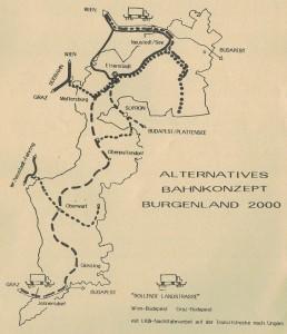 Alternatives Bahnkonzept für das Burgenland.