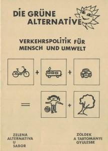 """Titelblatt der Broschüre """"Verkehrspolitik für Mensch und Umwelt""""."""