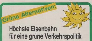 Flugblatt der Grünen Alternative - Liste Freda Meissner-Blau.