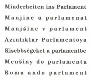 Minderheiten ins Parlament - vielsprachig!