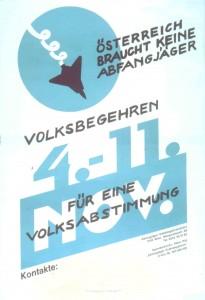 """""""Österreich braucht keine Abfangjäger"""". Wienbibliothek, Plakatsammlung, P-217374"""