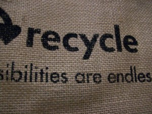 "Lydia: ""recycle jute bag"". Flickr, CC-BY"