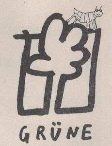 Logo der Grünen Floridsdorf - natürlich mit Floh.