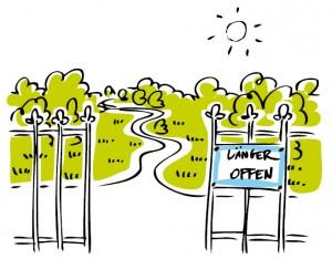 eine der Forderungen: Öffnung der Bundesgärten und Kleingärten.