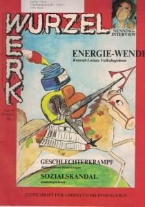 """Cover des """"Wurzelwerk"""" Juni 1984"""