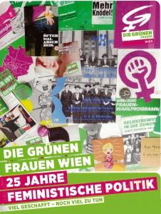"""Cover der 2013 erschienenen Broschüre """"25 Jahre feministische Politik"""" (Grünes Archiv, Inventarnr. 185)"""