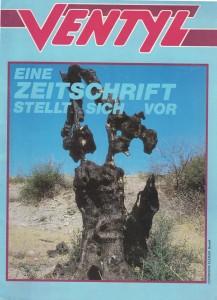 """Cover der ersten Ausgabe von """"Ventyl"""" (Grünes Archiv)"""