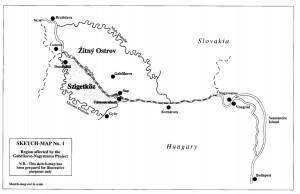 Skizze des Projekts aus dem Urteil des Internationalen Gerichtshofs, http://www.icj-cij.org/docket/files/92/7375.pdf (1997).