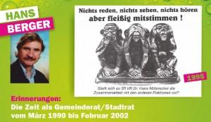 Hans Berger war von 1990 bis 2002 in der Zwettler Gemeindepolitik aktiv.
