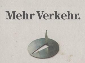 """""""Mehr Verkehr"""", Folder aus dem Jahr 1990 (Grünes Archiv)"""