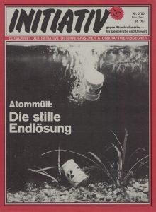 """Cover der Ausgabe 5/1980. """"Initiativ"""" ist die Zeitschrift der Initiative österreichischer Atomkraftgegner (Grünes Archiv)."""