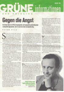 Gegen die Angst. Peter Pilz 1995.