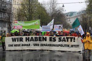"""Demonstration """"Wir haben es satt"""" in Wien."""