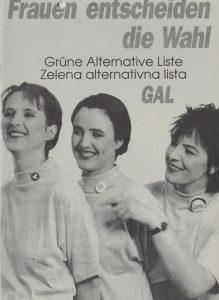 Grüne Alternative Liste / Zelena Alternativna lista: Frauen entscheiden die Wahl. Programm für die Gemeinderatswahlen in Klagenfurt 1991.