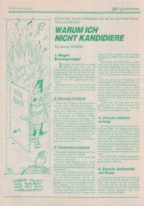 Günther Nenning: Warum ich nicht kandidiere (1986)