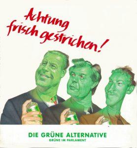Franz Vranitzky (SPÖ), Josef Riegler (ÖVP), Jörg Haider (FPÖ) - frisch gestrichen.