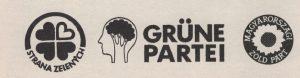 Logos europäischer Grünparteien.