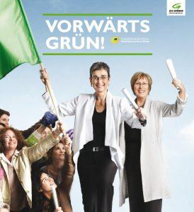 Ulrike Lunacek und Eva Lichtenberger kandidierten an der Spitze der grünen Liste.