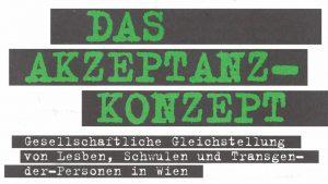 Das Akzeptanz-Konzept der Wiener Grünen.
