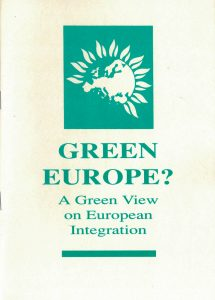 The Green party of England, Wales and Northern Ireland: Green Europe? A green view on European integration