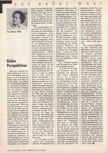 Andreas Wabl zeigt 1998 grüne Perspektiven auf.