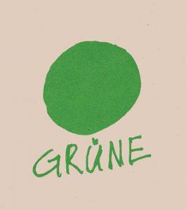 Grüner Punkt.