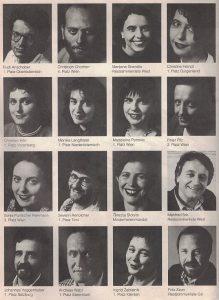 Die Kandidatinnen und Kandidaten für die Nationalratswahl 1990.