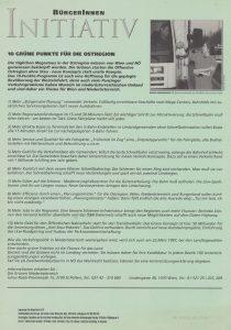 10 grüne Punkte für die Ostregion (1997)