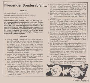 Anfrage von Peter Pilz und FreundInnen zu den Draken.
