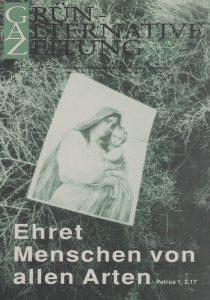 Grün-Alternative Zeitung GAZ vom November 1992.