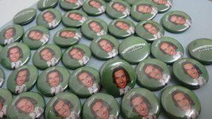 """Die Grünen luden 2012 und 2013 zu """"Korruptionsclubbings"""", die KHg-Buttons befinden sich im Grünen Archiv."""