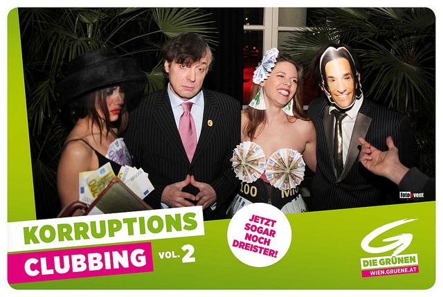 Julius Meinl und KHG am zweiten Korruptionsclubbing (2012). Foto: Die Grünen Österreich
