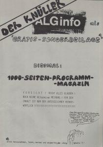 """Das """"1000-Seiten-Programm-Magazin"""" der Alternativen Liste Graz."""