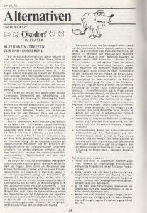 Ursula Baatz: Ökodorf im Prater (1979)