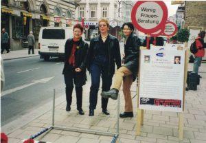 Susanne Jerusalem, Jutta Sander und Eva Glawischnig gegen Hürden für Frauen.
