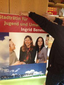 """""""Da gibt's die Plakate von früher zu sehen und vor allem gute Musik!"""" (2015). Bild: Dornbirner Grüne. Die offene BürgerInnenliste"""
