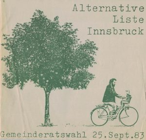 Wahlprogramm der Alternativen Liste Innsbruck (1983).