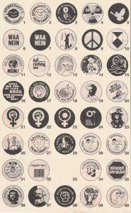 Buttons von der Felix-Fechenbach-Kooperative.