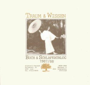 Traum & Wissen. Cover des Katalogs 1987/1988.