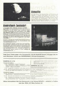 Aufruf zum Ostermarsch nach Zwentendorf (1979), Rückseite