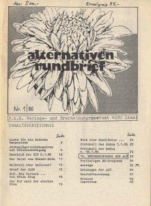 Der Beitrag über die LIAB erschien im Alternativenrundbrief 1/1986.