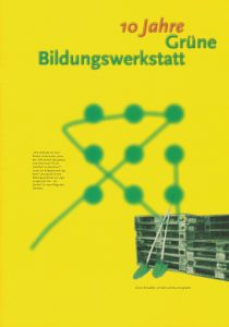 """Der Beitrag über die Alternative Universität erschien in der Broschüre """"10 Jahre Grüne Bildungswerkstatt"""" (1996)"""