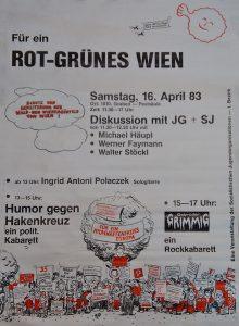 Für ein rot-grünes Wien (Grünes Archiv, Sammlung Peter Grusch)