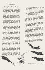 """Text über die Draken aus der """"Schwarzen Distel"""", der Zeitschrift des Revolutionsbräuhofs."""